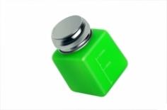 RuNail Помпа для жидкости (непрозрачный пластик, с металлической крышкой, зеленая) 120 мл