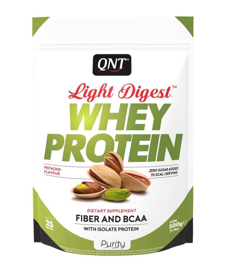 Купить QNT Добавка биологически активная к пище Лайт дайджест вей протеин, фисташка / LIGHT DIGEST WHEY PROTEIN Pistachio 500 г