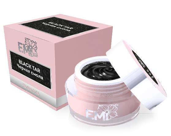 E.MI Краска гелевая для дизайна ногтей, Черная смола / EMPASTA 5 г