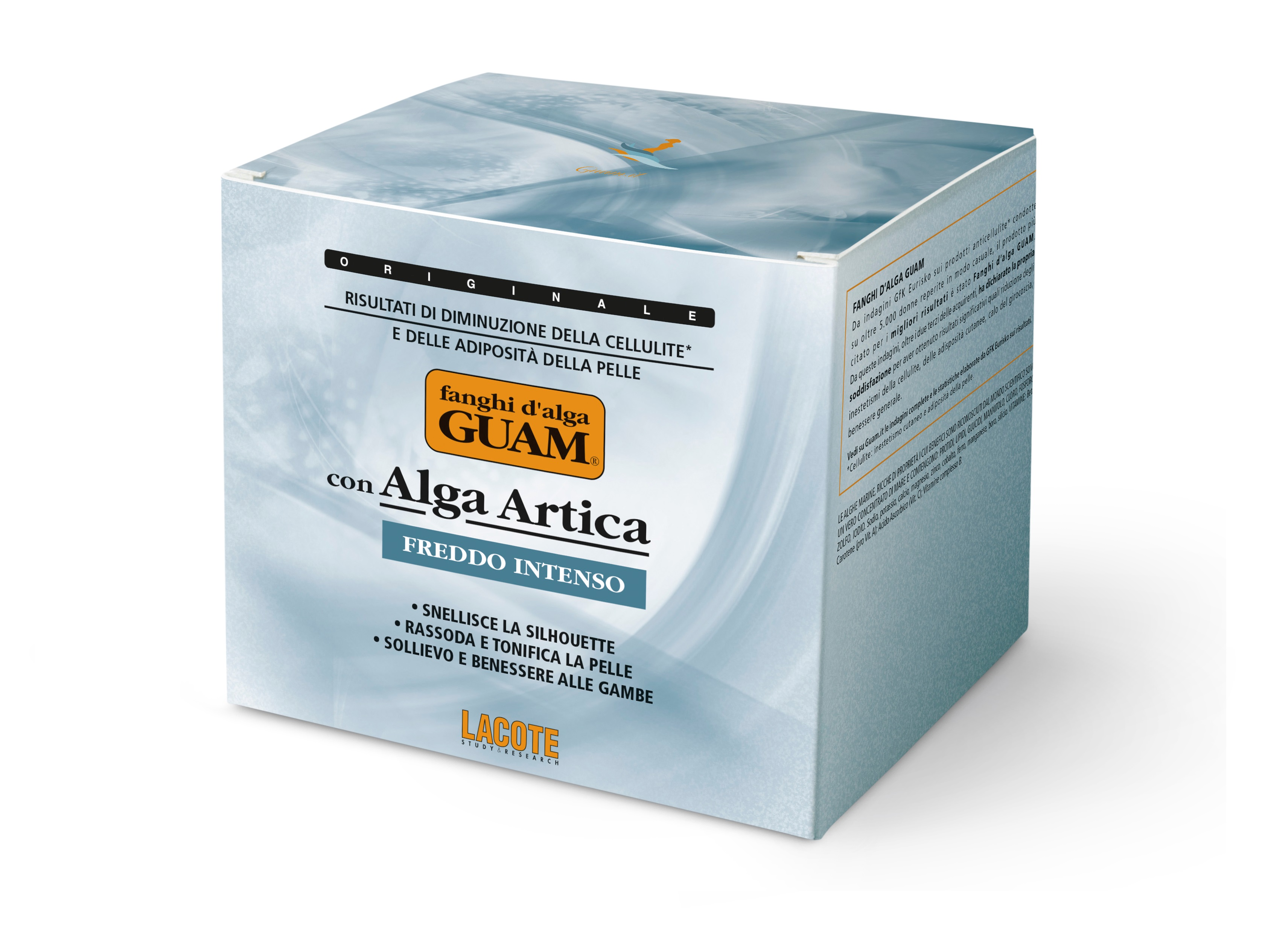 Купить GUAM Маска антицеллюлитная с интенсивным охлаждающим эффектом для тела / FANGHI D'ALGA 500 г