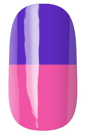 RuNail Гель-лак термо, сине-фиолетовый - розовый / Thermo 7 мл runail дизайн для ногтей ракушки 0284