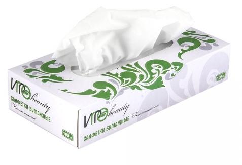 Igrobeauty салфетки косметические бумажные двухслойные 100 шт