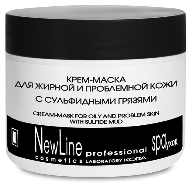 NEW LINE PROFESSIONAL Крем-маска для жирной и проблемной кожи с сульфидными грязями 300мл
