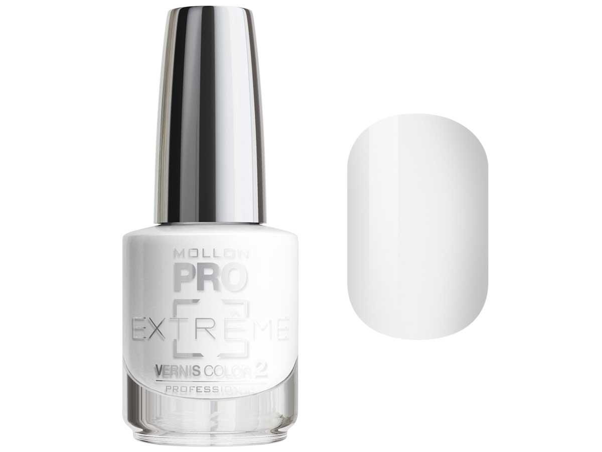 MOLLON PRO Покрытие для ногтей цветное / Extreme Vernis Color  01 10млЛаки<br>Mollon PRO EXTREME 3 STEPS VERNIS   это инновационная, трехфазная система для стилизации ногтей. Благодаря формуле, обогащенной полимерами, продукты высыхают при естественном освещении, что позволяет сохранить эффект супер блеска на ногтях до 10 дней. Продукты наносятся как классический лак для ногтей, смываются жидкостью для снятия лака с ацетоном без компресса. EXTREME VERNIS COLOR COAT 2 - основной цвет очень гибкий, быстро сохнет и дает интенсивный цвет уже после первого цветного слоя. Способ нанесения: - Сделайте маникюр и обезжирьте ногтевую пластину. - Нанесите базу Mollon PRO Extreme Base Smooth Coat -1, дайте просохнуть 1 минуту. - Нанесите два слоя цветного лака Mollon PRO Extreme -2, интервал между слоями 2 минуты. - Покройте сверху закрепителем Mollon PRO Extreme Gloss Top Coat -3. - Оставьте на 10 минут для высыхания. Для снятия покрытия используйте жидкость для снятия лака.<br><br>Цвет: Белые<br>Класс косметики: Профессиональная<br>Виды лака: Глянцевые