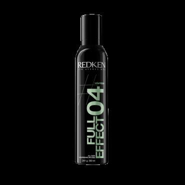 REDKEN Мусс-объем для волос Фул Эффект 04 250млМуссы<br>Увлажнящий мусс-объем для волос. Добавьте супер объема! Формула мусса, обогащенная увлажняющими компонентами, придает волосам дополнительную плотность, увлажнение, обеспечивает надежную защиту от неблагоприятные последствий теплового воздействия (фен, парикмахерский утюжок и т.п.), от воздействия влаги, а также препятствует потере насыщенности оттенка окрашенных волос. Специальная система Valume Lock Complex обеспечивает волосам долговременный объем у корней, увлажнение по всей длине и легкость в укладке. Способ применения: Нанесите необходимое количество средства на волосы, равномерно распределите, уложите в прическу пальцами или феном.<br>