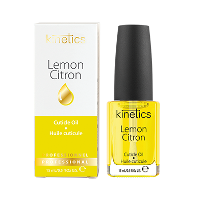 KINETICS Масло увлажняющее кутикулу и ногтевую пластину Lemon (лимон) 15 млДля кутикулы<br>Питательное&amp;nbsp;масло с ароматом лимона&amp;nbsp;для кутикулы снимают раздражение и сухость. Упаковка имеет специальную пипетку-дозатор, которая регулирует расход масла и препятствует проникновению пыли в бутылочку. Рекомендации:&amp;nbsp;это средство, рекомендованное для ежедневного использования, чтобы улучшить состояние ногтей и кутикулы. Масло стимулирует рост ногтей, увлажняет и смягчает кутикулу. ри ежедневном использовании улучшает состояние ногтей, сохраняет кутикулу эластичной и здоровой, заботится о сухой и раздраженной кутикуле. Способ применения:&amp;nbsp;нанесите каплю масла на кутикулу и ногтевую пластину. Массажируя с нежными круговыми движениями. Применять ежедневно.<br><br>Объем: 15 мл