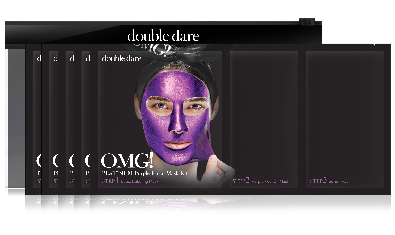 DOUBLE DARE OMG! Комплекс масок трехкомпонентный Глубокое увлажнение и релакс / Platinum 5 шт