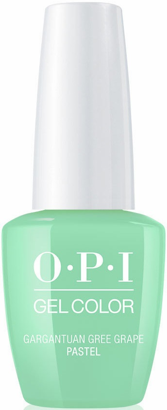 OPI Гель-лак для ногтей Pastel Gargantuan Green Garpe / GELCOLOR 15мл opi лосьон для рук и тела opi avoplex moisture replenishing lotion av711 30 мл