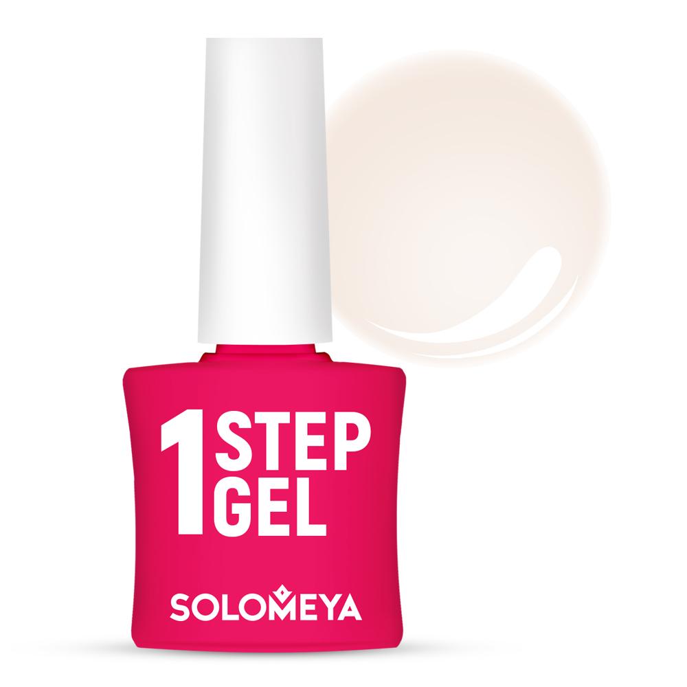 Купить SOLOMEYA Гель-лак однофазный для ногтей, 2 облака / One Step Gel Clouds 5 мл, Белые