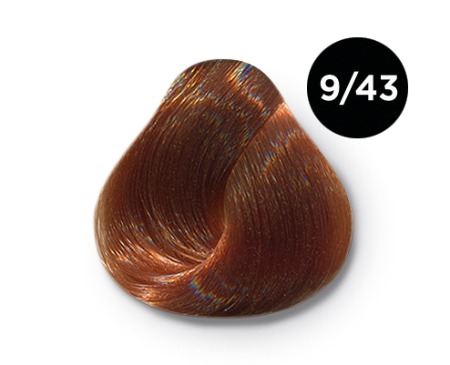 OLLIN PROFESSIONAL 9/43 краска для волос, блондин медно-золотистый / OLLIN COLOR 60 мл