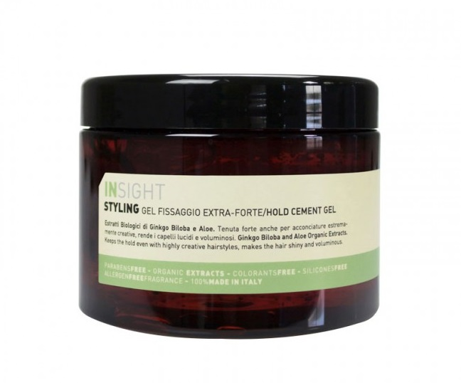 INSIGHT Гель экстрасильной фиксации для волос / STYLING HOLD CEMENT GEL 500 мл