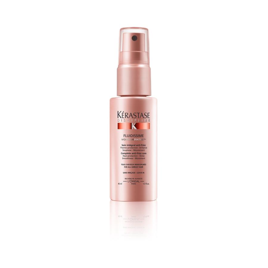 KERASTASE Спрей термо-защита для гладкости и лёгкости волос в движении/ Флюидиссим 150млСпреи<br>Комплексный уход для защиты волос от воздействия влажности и образования завитков. Термо   защита   Блеск   Гладкость   Движение. Полупрозрачный несмываемый уход уменьшает трение между волосами, защищает волокно во время укладки и дисциплинирует даже самые пушащиеся и непослушные волосы. Волосы становятся лёгкими, блестящими, более эластичными и струящимися. Укладка феном становится истинным удовольствием. Активные ингредиенты: уникальное сочетание активных веществ - комплекс Morpho-Keratine : 3 амино-кислоты для восстановления поврежденных зон каждого волоса: Глютаминовая кислота, Аргинин и Серин. Производная протеина пшеницы для придания эластичности и усиления косметического результата на волосах. Керамид R для заполнения волокна волоса и гладкости его внешней части.&amp;nbsp; Ксилоза - термо-активный компонент, защищающий волосы от теплового воздействия фена и стайлеров. Способ применения: встряхнуть перед использованием. Наносить на чистые, отжатые полотенцем волосы перед укладкой. Не смывать. Расчесать волосы. Приступить к укладке.<br><br>Класс косметики: Косметическая