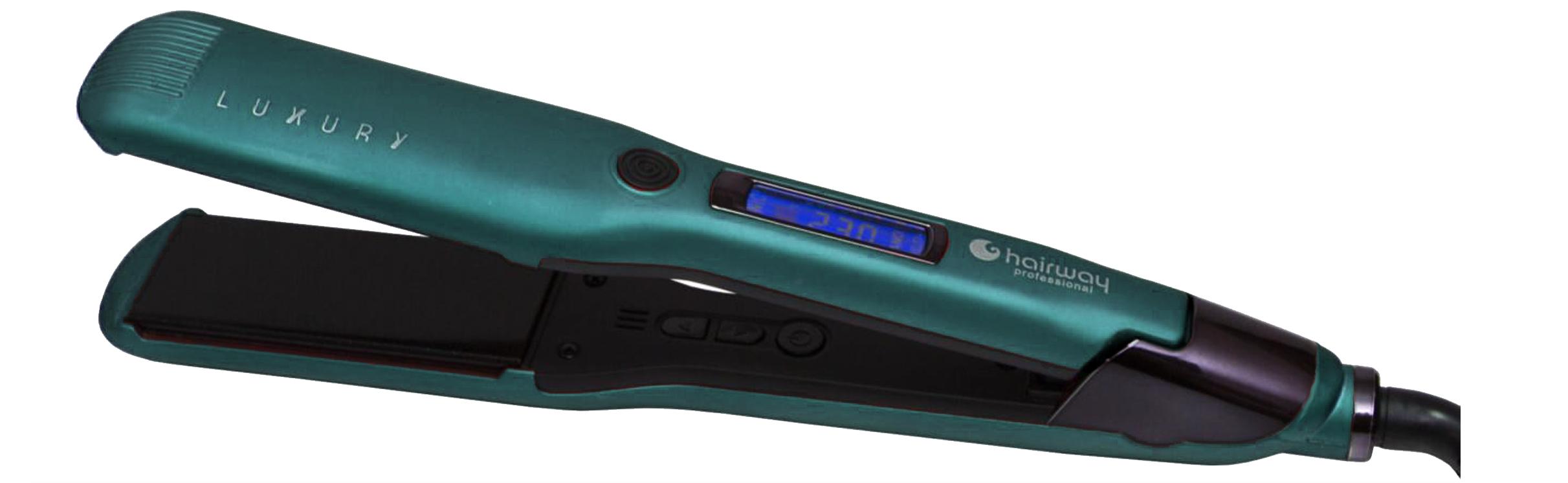 HAIRWAY Щипцы-выпрямители Hairway Luxury Plus 38мм зеленые 38Вт