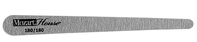 MOZART HOUSE Пилка на деревянной основе зебра капля прямая 180/180 zinger пилка полуовал черная 100 180