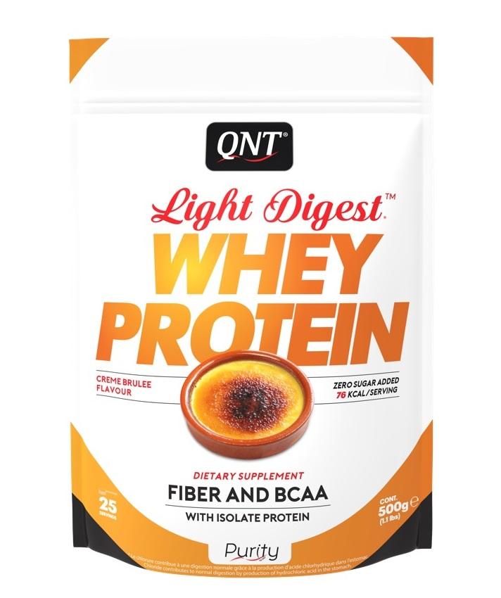 QNT Добавка биологически активная к пище Лайт дайджест вей протеин, крем-брюле / LIGHT DIGEST WHEY PROTEIN Crème brûlée 500 г