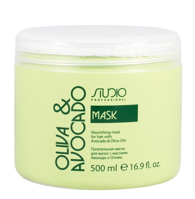 Купить STUDIO PROFESSIONAL Маска увлажняющая для волос с маслами авокадо и оливы / Olive and Avocado 500 мл