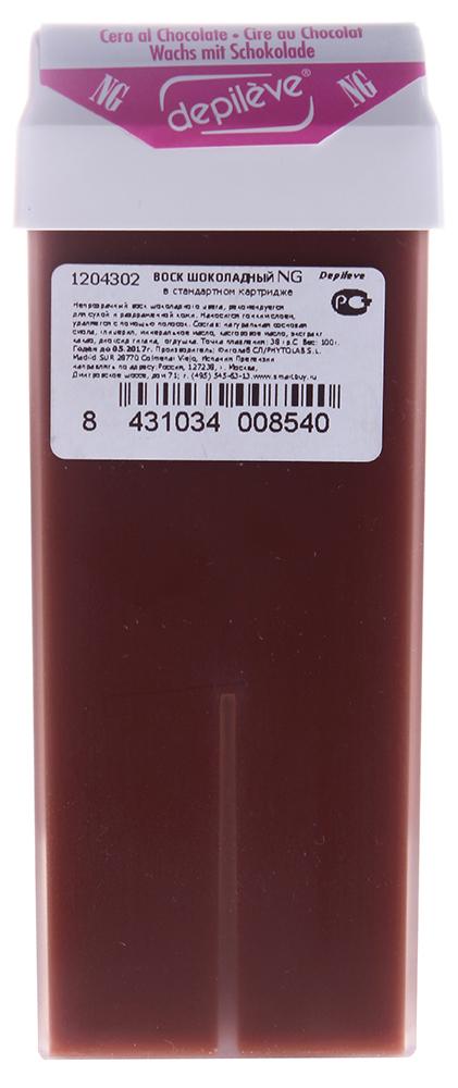 DEPILEVE Картридж стандартный с шоколадным воском NG 100грВоски<br>Стандартный картридж 100 гр с роликом - аппликатором c шоколадным воском (рекомендуется для для сухой и раздраженной кожи). Способствует уменьшению раздражения. Великолепно очищает, питает и смягчает кожу. Активные ингредиенты: Содержит диоксид титана. Идеально подходит для удаления волос на больших поверхностях. Формула воска разработана специально для жестких волос и позволяет устранить отечность и снизить возможность возникновения фолликулита после процедуры. Используется для мужчин и женщин.&amp;nbsp;<br><br>Вид средства для тела: Шоколадный<br>Назначение: Отечность
