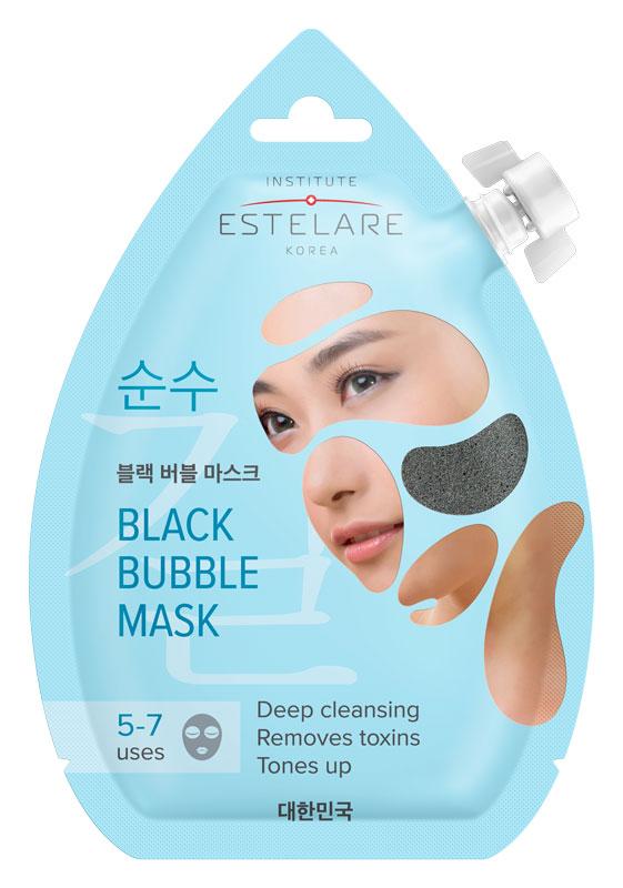 ESTELARE Маска очищающая пенящаяся черная для лица / Estelare 20 мл.