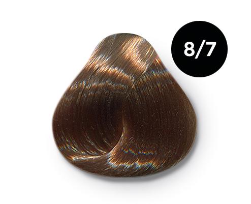 OLLIN PROFESSIONAL 8/7 краска для волос, светло-русый коричневый / OLLIN COLOR 60 мл