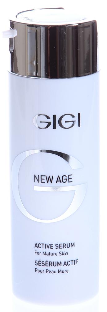 GIGI Сыворотка активная / Active Serum NEW AGE 30млСыворотки<br>Концентрированный экстракт активных веществ в виде легкой эмульсии, дающий хороший результат в омоложении кожи лица и шеи. Применяется для ежедневного использования или в качестве восстанавливающего курса в периоды стресса, после диеты или в период смены сезонов. Действие: Содержит фитоэстрогены, способствующие разглаживанию старых и предупреждению новых морщин, в результате чего улучшается микрорельеф кожи, повышается упругость и тонус. Биогенные стимуляторы (протеин сои и зародышей пшеницы) увеличивают плотность межклеточного вещества и толщину эпидермиса. С первых дней применения кожа на лице разглаживается, становится гладкой и свежей, овал лица выравнивается, кожа лучше сопротивляется процессу старения.  Активные ингредиенты: Экстракт бурой водоросли, гидролизированный протеин пшеницы, лецитин, экстракт зародышей сои, аллантоин, гидролизированный соевый протеин. Способ применения: Нанести 2-3 клика сыворотки на чистую кожу лица до полного впитывания. Применять как самостоятельно, так и под увлажняющий или питательный  крем или декоративную косметику.<br><br>Объем: 30<br>Возраст применения: После 35<br>Назначение: Морщины