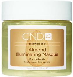 CND Маска сверкающая / Illuminating Masque ALMOND SPA MANICURE 320грМаски<br>Средство для глубокого кондиционирования кожи и придания ей здорового блеска. Масло сладкого миндаля, масло жожоба и витамин Е производят глубокое увлажнение кожи. Косметические минеральные масла, входящие в ее состав, защищают кожу от потери влаги и способствуют глубокому проникновению других веществ. Активные компоненты: Масло сладкого миндаля; Масло жожоба; Витамин Е. Способ применения: Как самостоятельное средство, либо в процедуре миндальный спа маникюр.<br><br>Объем: 320