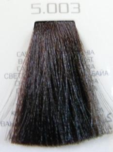 HAIR COMPANY 5.003 краска для волос / HAIR LIGHT CREMA COLORANTE 100млКраски<br>Профессиональная стойкая крем-краска для волос. Результат последних разработок ведущих специалистов и продукт высоких технологий. Профессиональная стойкая крем-краска Hair Light Crema Colorante богата натуральными ингредиентами и, в особенности, эксклюзивным мультивитаминным восстанавливающим комплексом. Новейший химический состав (с минимальным содержанием аммиака) гарантирует максимально бережное отношение к структуре волос. Применение исключительно активных ингредиентов и пигментов высочайшего качества гарантирует получение однородного и стойкого цвета, интенсивных и блестящих, искрящихся оттенков, кроме того, дает полное покрытие (прокрашивание) седых волос. Тона профессиональной стойкой крем-краски Hair Light Crema Colorante дают возможность парикмахеру гибко реагировать на любые требования, предъявляемые к окраске волос. Наличие 5 микстонов и нейтрального (бесцветного) микстона, позволяет достигать результатов окраски самого высокого уровня. Применение: Смешать Hair Light Crema Colorante с Hair Light Emulsione Ossidante в пропорции 1:1,5. Время воздействия 30-45 мин.<br><br>Цвет: Корректоры и другие<br>Объем: 100<br>Вид средства для волос: Стойкая<br>Класс косметики: Профессиональная