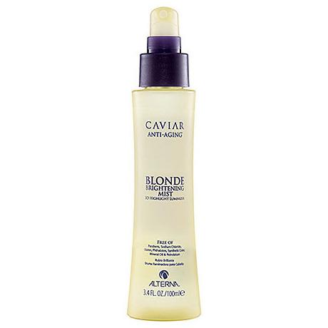 ALTERNA Спрей-вуаль для светлых волос Мерцание / CAVIAR BLONDE 100мл~Спреи<br>Легкий спрей для завершения укладки с эффектом 3D, придает волосам искрящийся блеск. Золотые микропризмы увеличивают отражение, привлекая и рассеивая свет. Идеально подходит для мелированных волос, подчеркивая и усиливая сияние светлых бликов, а так же окрашенных и естественных оттенков блонд. Входящие в состав экстракт черной икры и вытяжки из морских водорослей увлажняют питают волосы, витамин С предотвращает ломкость волос, а технология Color Hold препятствует вымыванию цветного пигмента. Активные ингредиенты: экстракт черной икры, вытяжка из морских водорослей. Способ применения: распылить на сухие волосы после укладки.<br><br>Цвет: Блонд