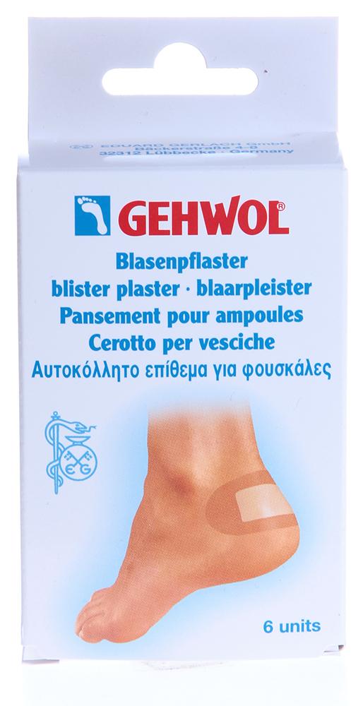 GEHWOL Пластырь заживляющий 6штПластыри<br>Заживляющий пластырь с гидроколлоидной системой, пропускает воздух и отталкивает воду.  Гель также препятствует склеиванию пластыря с раной и делает удаление пластыря безболезненным.  Новая кожа, образующаяся под гелем надежно защищена от грязи, воды и бактерий.  Пластырь гипоалергенный, пропускает воздух и отталкивает воду.   В случае, если в ранке уже есть гной (белые выделения) пластырь наклеивать нельзя! Активные ингредиенты: Молескин с гидроколлоидной системой. Гидроколлоидная система связывает выделяющийся секрет и образует гель, защищающий рану и уменьшающий боль.  Способ применения: Закрепить пластырь на пальце стопы в участках, где имеются мозоли, волдыри, потертости между пальцами стопы и другие проблемы.<br><br>Назначение: Мозоли