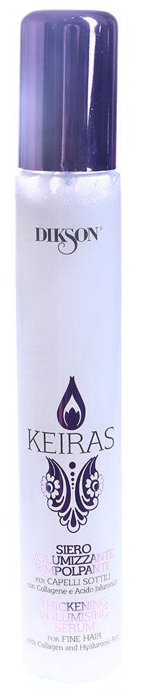 DIKSON Спрей для объема и плотности тонких волос / SIERO VOLUMIZZANTE RIMPOLPANTE KEIRAS 100млСпреи<br>Спрей для объема и плотности тонких волос SIERO VOLUMIZZANTE RIMPOLPANTE  Действие: Идеально подходит для тонких волос, которым не хватает объёма. Коллаген укрепляет и придаёт плотность капиллярному волокну. Гиалуроновая кислота питает и увлажняет, придаёт силу и объём. Волосы становятся более объёмными, плотными, сияющими. Активные ингредиенты: Коллаген и Гиалуроновая кислота.  Способ применения: Нанести на влажные волосы 3-6 нажатий. Расчесать для облегчения распределения средства. Не смывать.<br>