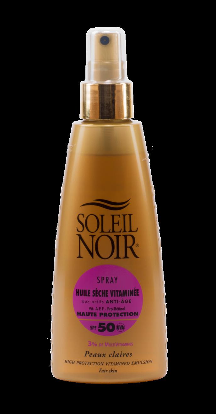 SOLEIL NOIR Масло спрей сухое антивозрастное витамин. Высокая степень защиты SPF50/HULE SECHE VITAMINEE 150мл