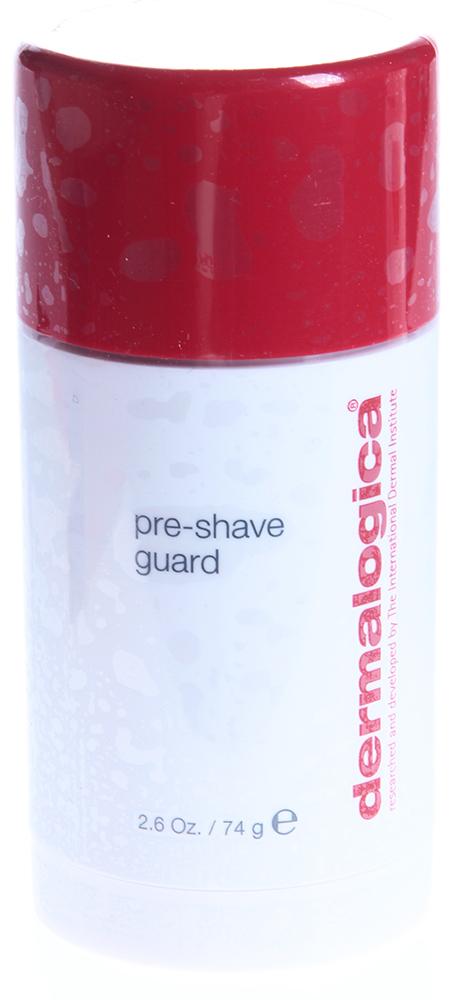 DERMALOGICA Защита перед бритьем / Pre-Shave Guard MENS SHAVE 74грДля бритья<br>Защита перед бритьем для всех состояний кожи, особенно для густых толстых волос бороды. Эффективно смягчает густые грубые волосы бороды без использования щелочей, содержащихся во многих средствах для бритья. Активные ингредиенты: камфора, ментол, масло цветков гвоздики, экстракт зародышей пшеницы, дрожжей. Способ применения: нанесите тонким слоем на область бороды после очищения. Не смывайте. Нанесите Soothing Shave Cream / Успокаивающий крем для бритья поверх Pre-Shave Guard / Защиты перед бритьем. Брейтесь, часто споласкивая бритву. Умойтесь теплой водой.<br>