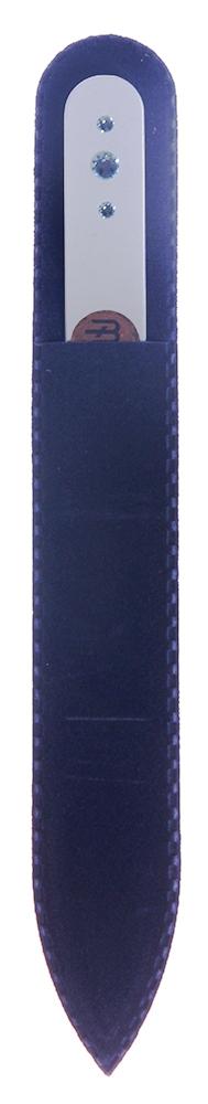 BOHEMIA PROFESSIONAL Пилочка стеклянная цветная с 3 кристаллами 135мм