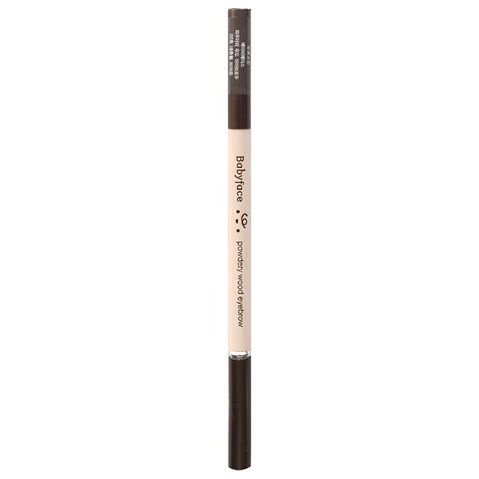 It'S SKIN Карандаш для бровей Бейбифейс, 02 коричневый / Babyface Powdery Wood Eyebrow 02 Natural Brown 1,1 г