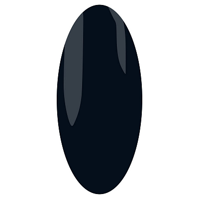 IRISK PROFESSIONAL 208 гель-лак для ногтей, черный / Elite Line 10 мл
