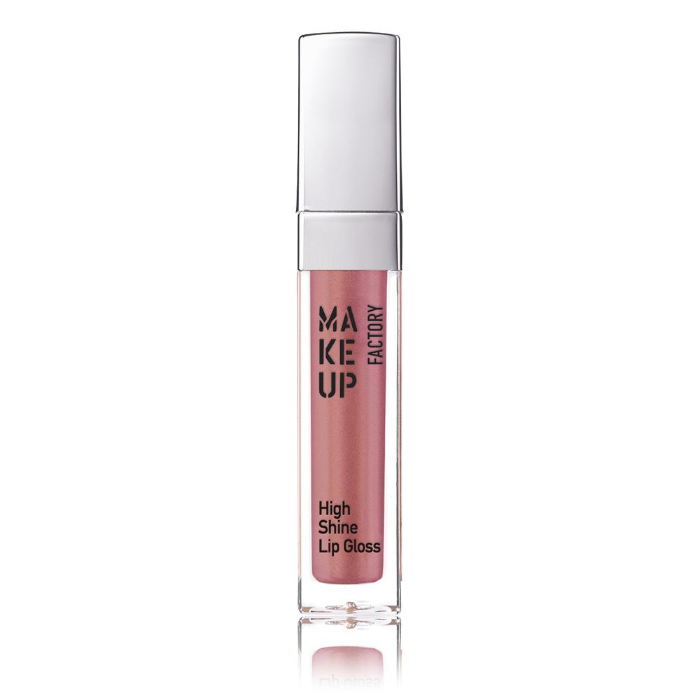MAKE UP FACTORY Блеск с эффектом влажных губ, 38 радужный абрикос / High Shine Lip Gloss 6,5 мл - Блески для губ
