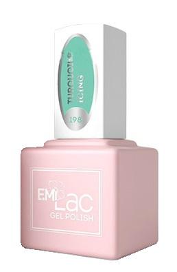 Купить E.MI 198 PR гель-лак для ногтей, Бирюзовая глазурь / E.MiLac 6 мл, Зеленые