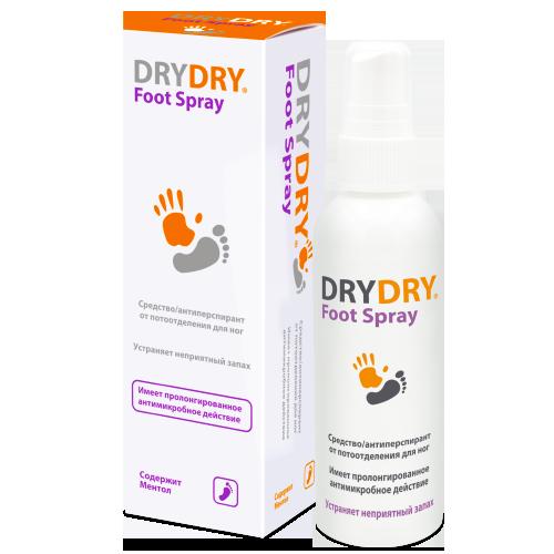 DRY DRY Средство от потоотделения для ног / Foot Spray 100 мл.