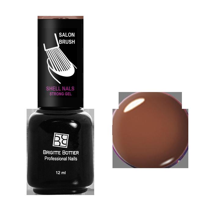 BRIGITTE BOTTIER 966 гель-лак для ногтей, шоколадный коричневый / Shell Nails 12 мл