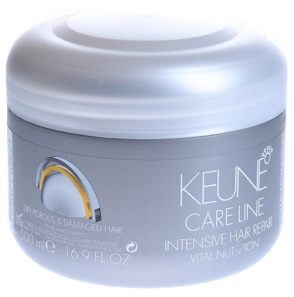KEUNE Восстановитель интенсивный Кэе Лайн Основное питание / CL NUTRITION INT. HAIR REPAIR 500млБальзамы<br>Интенсивный восстановитель для поврежденных волос. Природные минералы, технология Инъекции питания с уникальным ингредиентом Керавис и микропротеины повышают эластичность волоса. Укрепляющая формула идеально заботится о жестких и поврежденных волосах.  Активные ингредиенты: Липосомы, биомины, пшеничные протеины, провитамин В5, керавис. Способ применения: Наносить на просушенные полотенцем волосы и слегка вмассировать. Оставить на 3 минуты. Тщательно смыть.<br><br>Объем: 500<br>Вид средства для волос: Укрепляющая<br>Типы волос: Поврежденные
