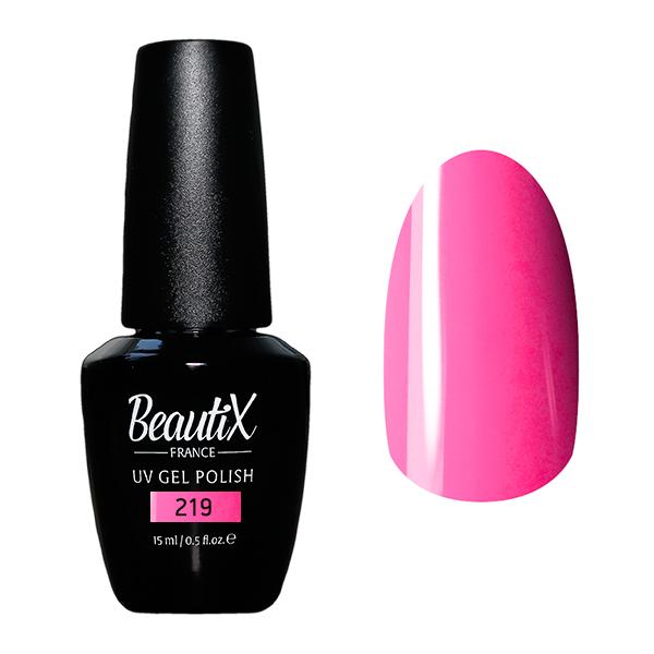 Купить BEAUTIX 219 гель-лак для ногтей 15 мл, Розовые