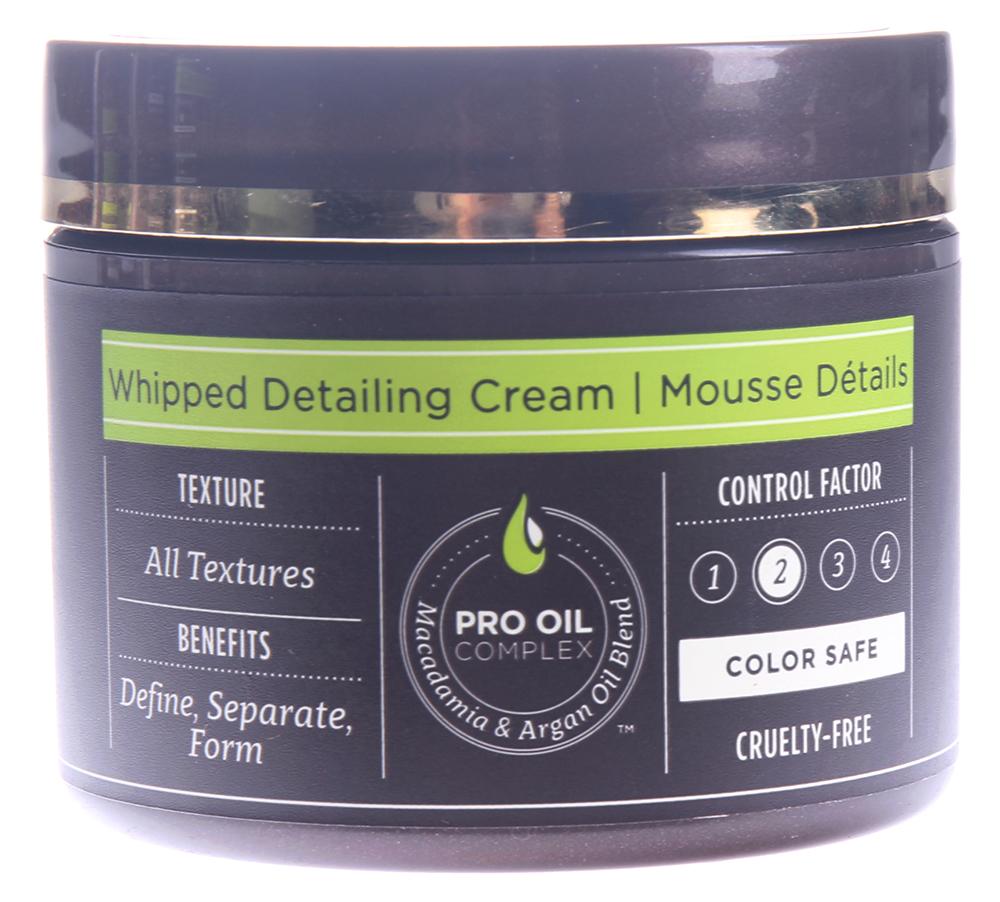 MACADAMIA PROFESSIONAL Крем-суфле текстурирующий / Whipped Detailing Cream 57грКремы<br>Воздушный крем для подчеркивания отдельных прядей, создания разделенной, разнообразной текстуры без утяжеления. Оставляет волосы естественными на вид и на ощупь. Добавляет гладкость, убирает пушистость. Устраняет излишки жира для создания объемной укладки. Идеален для завершения образа. Сохраняет цвет окрашенных волос, не содержит агрессивных компонентов. Способ применения: разотрите небольшое количество в ладонях и нанесите на волосы. При необходимости добавьте еще. Количество для нанесения зависит от длины, толщины волос и желаемой текстуры.<br><br>Вид средства для волос: Текстурирующая<br>Типы волос: Для всех типов