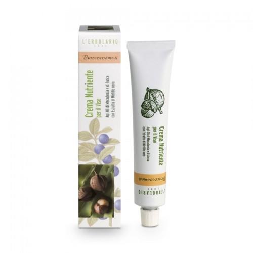 LERBOLARIO Крем для лица питательный Био-Эко 50 млКремы<br>Богатый полезными веществами крем, дающий коже ощущение комфорта даже по прошествии нескольких часов после его нанесения. Густая консистенция крема, предназначенная для зрелой и обезвоженной кожи, уже с первого применения крема обеспечивает питание кожи, возвращает ей тонус и эластичность. Активные ингредиенты: растительные масла энотеры, мускусной розы, подсолнечника, хохобы, тыквы и макадамии в соединении с восками и твердыми маслами миндаля, пшеницы, карите и ячменя, ценнейшие чистые экстракты черники и чертополоха.<br><br>Вид средства для лица: Питательный<br>Типы кожи: Сухая и обезвоженная