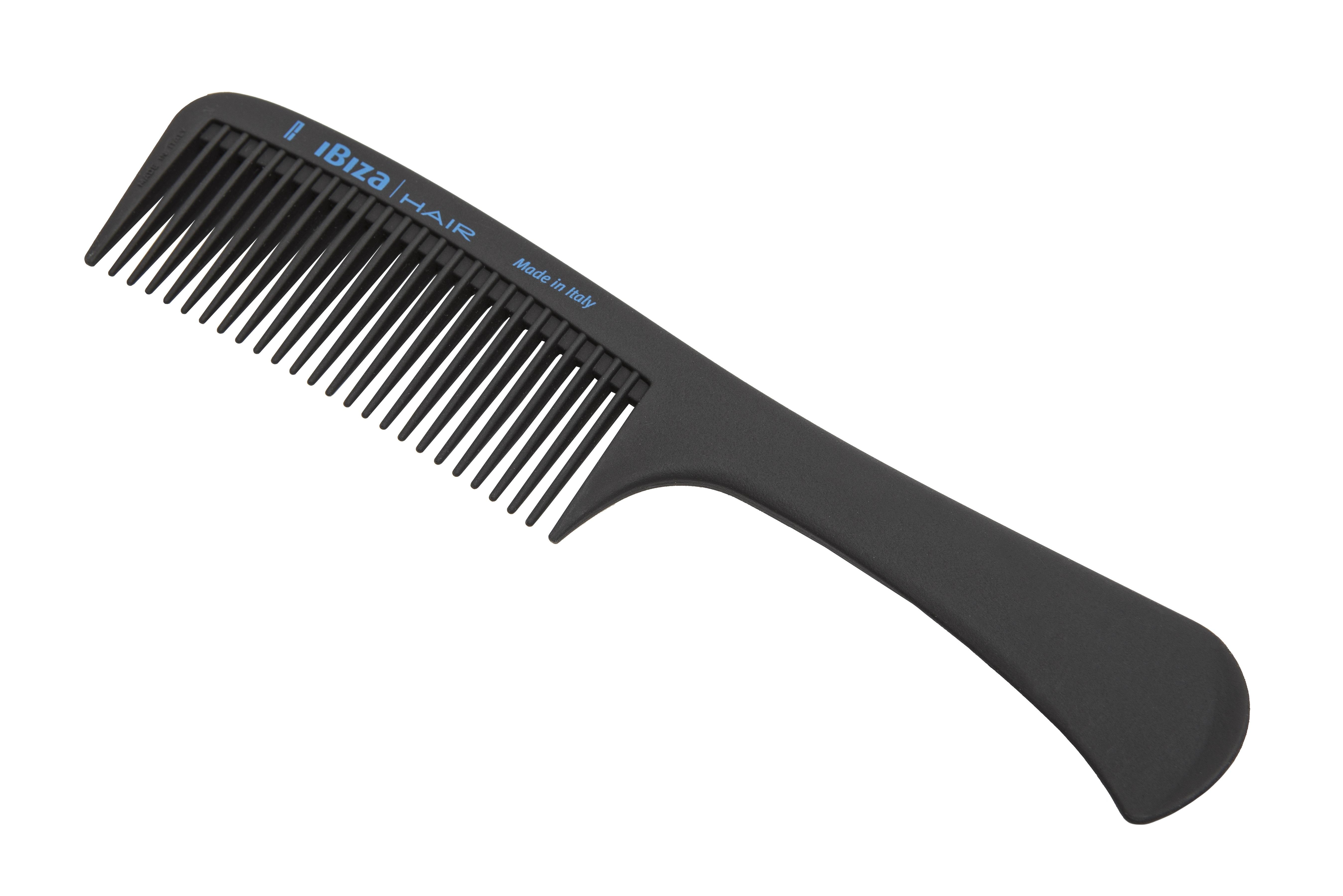 IBIZA HAIR Расческа карбоновая с рукояткой / Carbon Comb Handle