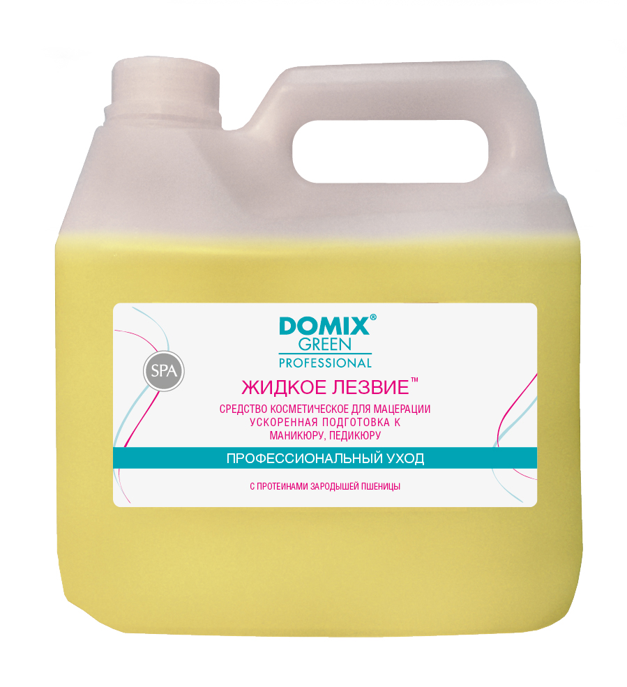 DOMIX Средство для ускоренной подготовки к маникюру и педикюр Жидкое лезвие/ DGP 3000мл