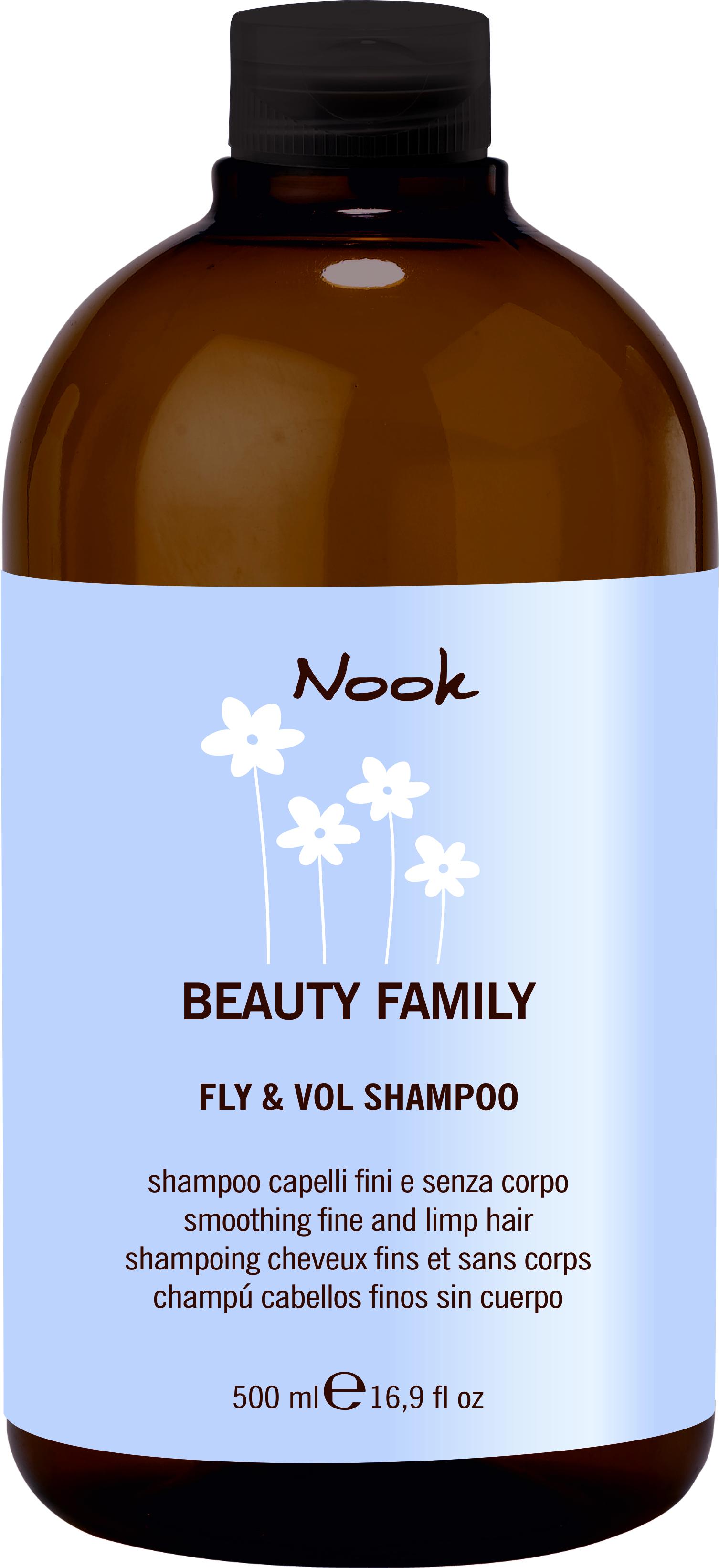 NOOK Шампунь для тонких и слабых волос Ph 5,5 / Fly & Vol Shampoo BEAUTY FAMILY 500 мл