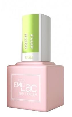 Купить E.MI 058 PA гель-лак для ногтей, Зеленое яблоко / E.MiLac 6 мл, Зеленые