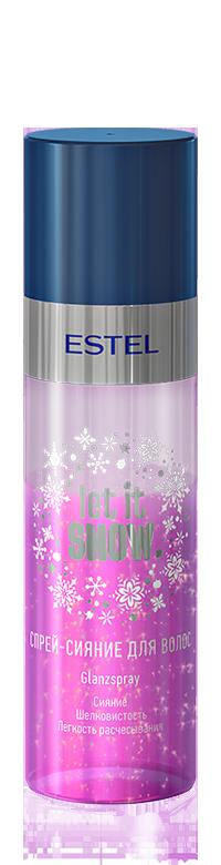 ESTEL PROFESSIONAL Спрей сияние для волос / Let it Snow 100 млСпреи<br>Идеальное завершение вечернего образа. 2x-фазный спрей содержит светоотражающие пигменты, придающие волосам сияние. Протеины шёлка в составе спрея, выступают в роли активного компонента для  протеинового ламинирования , обеспечивая волосам плотность, гладкость и блеск. Облегчает расчесывание, восстанавливает эластичность и послушность волос.<br><br>Типы волос: Для всех типов