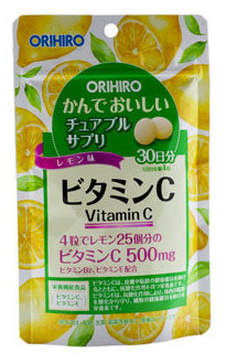 ORIHIRO Витамин С со вкусом лимона, таблетки 120 шт