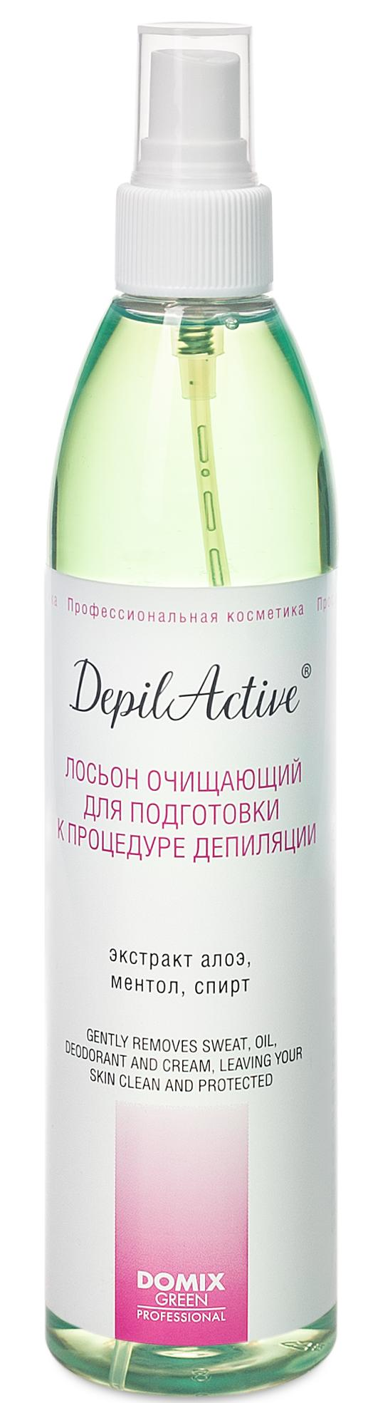 DOMIX Лосьон очищающий для подготовки к процедуре депиляции / Depil Active 320 мл фото