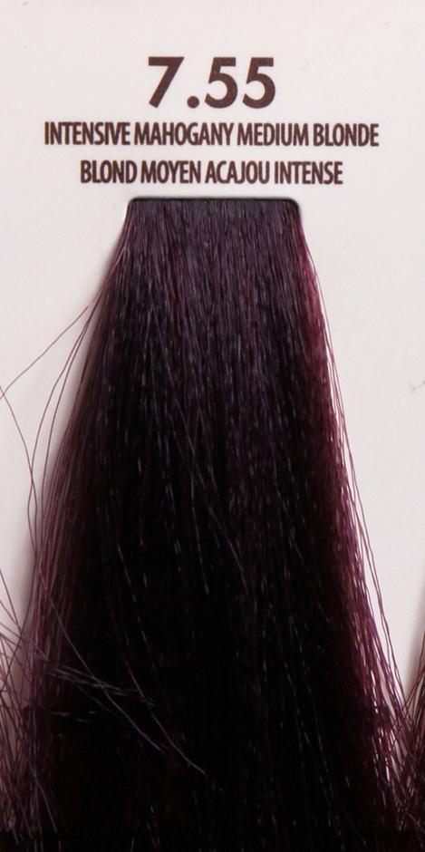 MACADAMIA Natural Oil 7.55 краска для волос / MACADAMIA COLORS 100млКраски<br>7.55 яркий красное дерево средний блондинПрофессиональный кремообразный краситель на основе масла макадамии сохраняет волосы здоровыми, живыми, мягкими и блестящими. Уникальная и хорошо продуманная формула красителя обеспечивает четкие, предсказуемые, последовательные и стойкие результаты. Основа красителя - масла макадамии и арганы, которые проникают в структуру волос для сохранения целостности структуры, восстановления и укрепления. Комбинация всех ингредиентов красителя создает яркие, роскошные оттенки с потрясающей стойкостью. Все цвета можно смешивать между собой, создавая бесконечное множество оттенков. С этим красителем каждый стилист может выйти за рамки повседневности, позволяя своему воображению воплощать в жизнь любые творческие идеи. Преимущества: Прост в применении Удобен в работе как для начинающего мастера, так и для опытного стилистаУникальная и хорошо продуманная формула красителя обеспечивает чёткие и предсказуемые результаты окрашиванияЭкономичен в работе Пропорция смешивания красителя с окислителем от 1 к 1.5 до 2.5 позволяют сократить расход красителя на каждого клиентаУвеличенная стойкость цвета Благодаря уменьшенному размеру, пигменты и масла способны более глубоко проникать в кортекс волоса и удерживаться там на более длительный срокВходящие в состав масла, служат проводником пигментов в кортекс волосаМногообразие оттенков Богатая палитра из 92 оттенковМножество модных и актуальных оттенков, таких как нейтрально-коричневый, бежевый, шоколадно-коричневые и т.д. Создание цвета и СПА уход в одном флаконе Результат окрашивания   стойкие, красивые и насыщенные оттенки. Уникальная комбинация пигментов и масел дополнительно увлажняет волосы и позволяет минимизировать вред, наносимый окрашиванием. Активные ингредиенты: масло макадамии, масло арганы.<br>